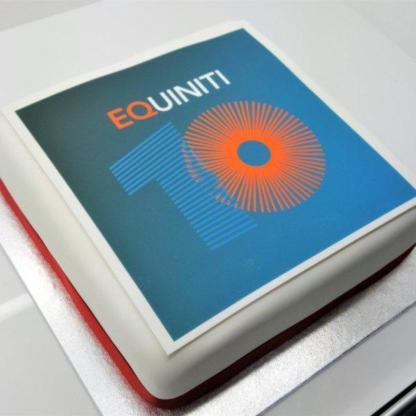 Logo Square Cake