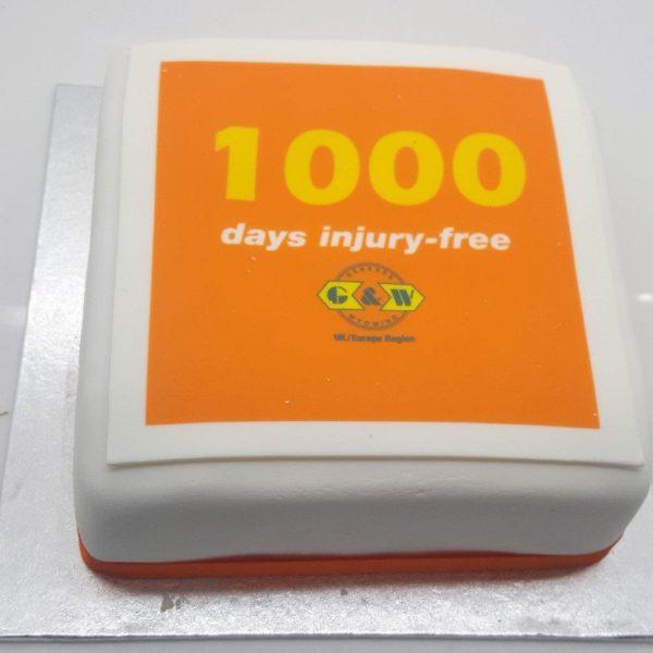 Logo Printed Large Cake