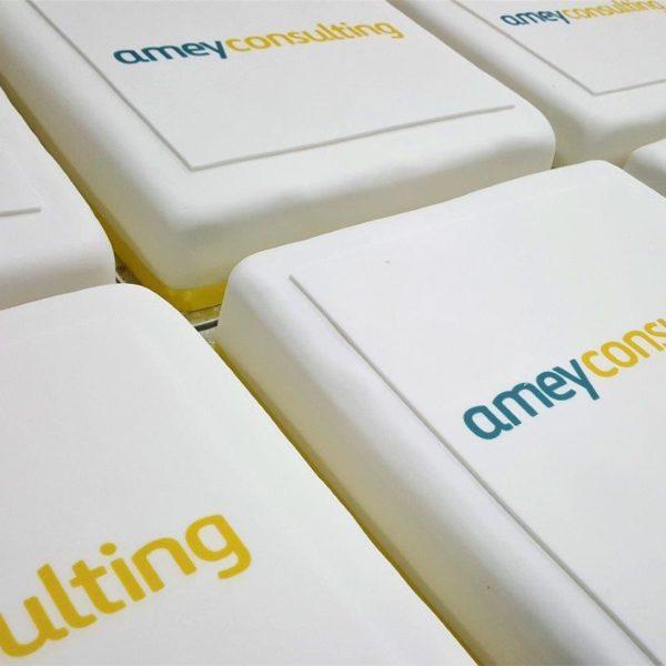 Logo branded large cakes