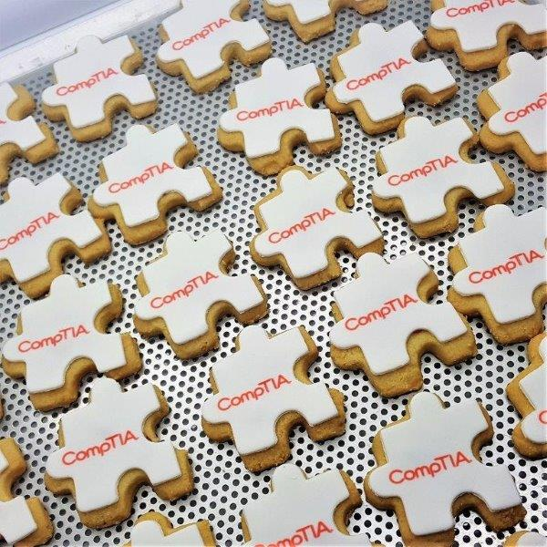 Jigsaw Shaped Logo Biscuit