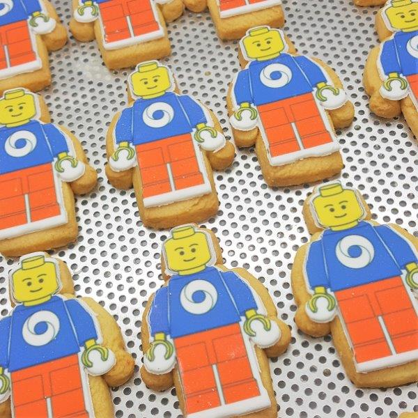 Person Shaped Logo Biscuits