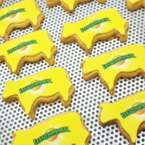Cow Shaped Logo Biscuit
