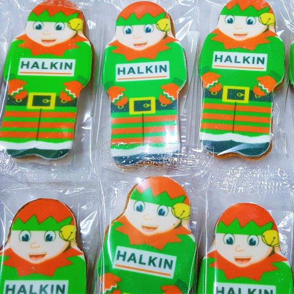 Elf Shaped Logo Biscuit