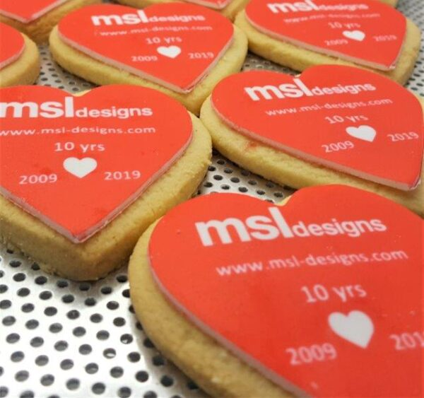 Heart Shaped Branded Biscuit