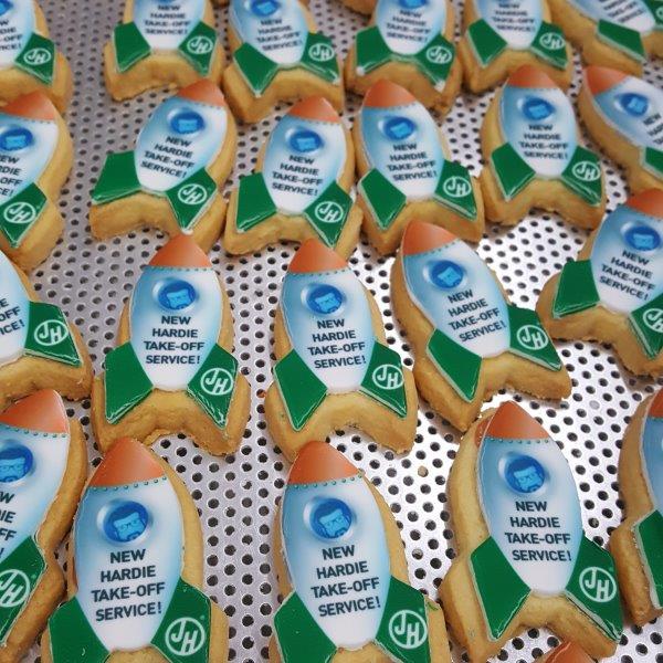 Rocket Shaped Logo Biscuits