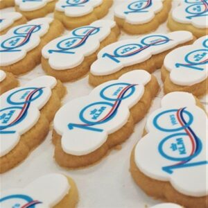 Cloud Shaped Logo Biscuits
