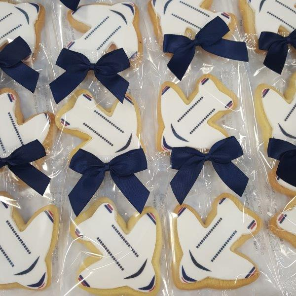 Plane Shaped Logo Biscuits