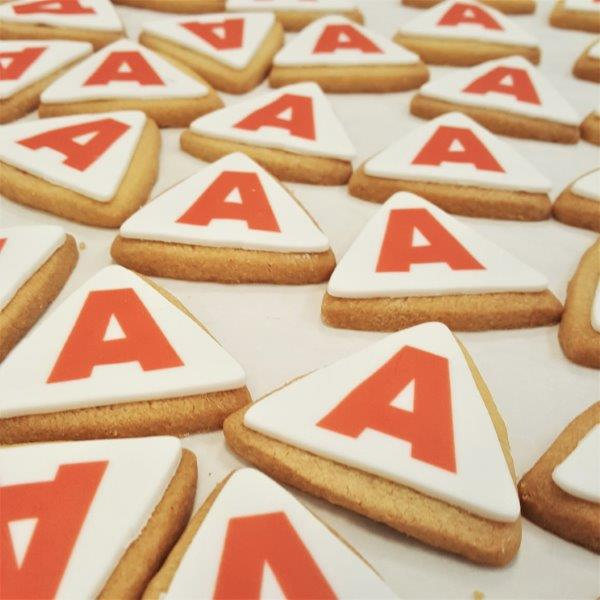 Triangle Shaped Branded Biscuit