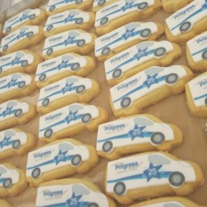 Van Shaped Logo Biscuit