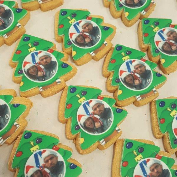 Tree Shaped Logo Biscuits