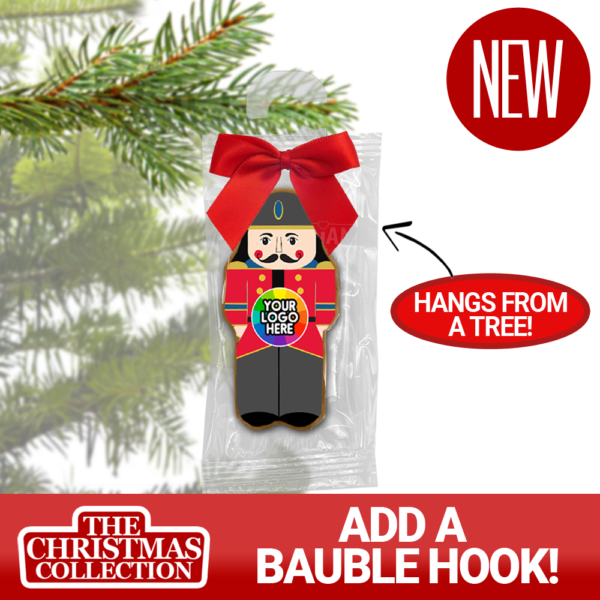 Branded Christmas Bauble Biscuit on a hook