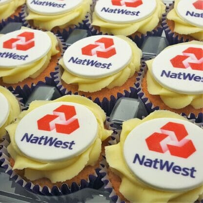 Branded Logo Cupcakes - with a NatWest logo