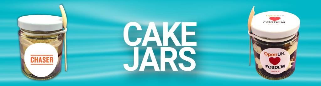 Logo Branded Corporate Cake Jars