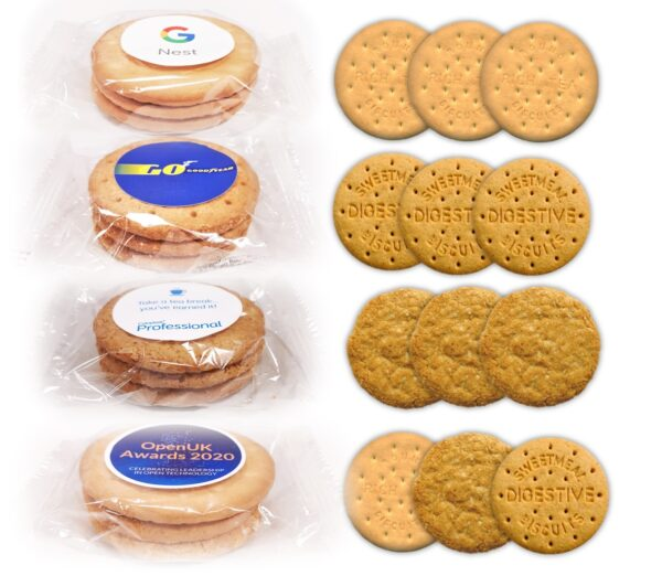 Corprate Logo Branded Biscuits