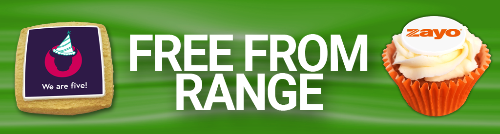 Free From Range corporate branded cakes biscuits brownies Gluten free Vegan Dairy free