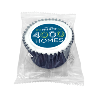 Wrapped Iced Filled Branded Cupcake