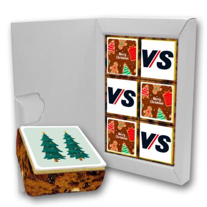 Branded Letterbox Christmas Cake