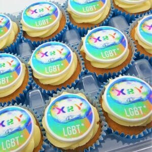 Logo Branded Cupcakes with LGBT logo
