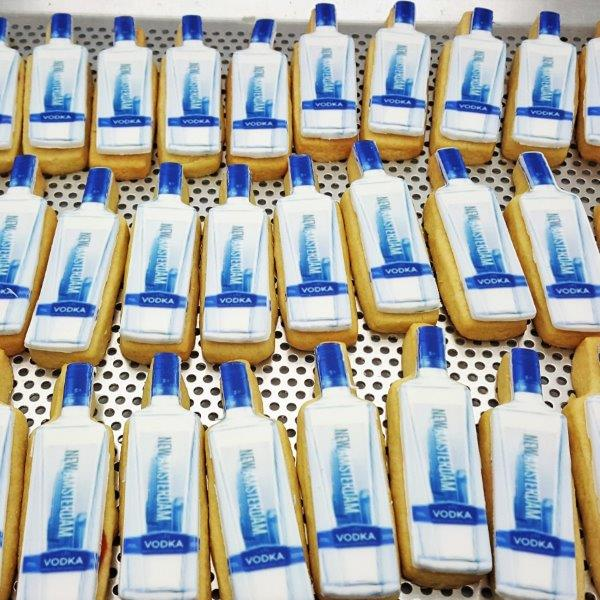Bottle Shaped Logo Biscuit