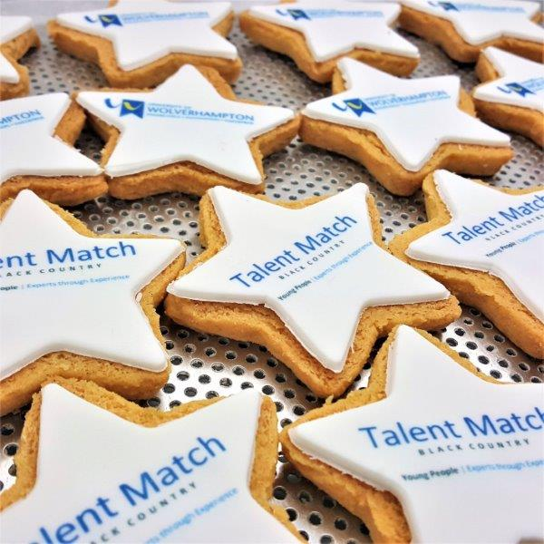 Star Shaped Logo Biscuits