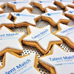 Star shaped logo biscuit - Talent Match