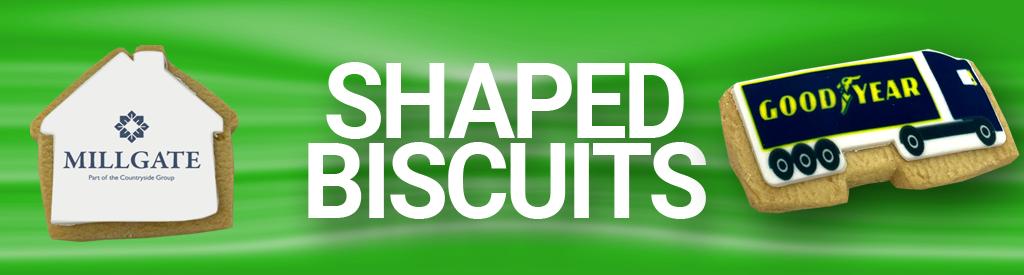 Logo Branded Bespoke Shaped Biscuits